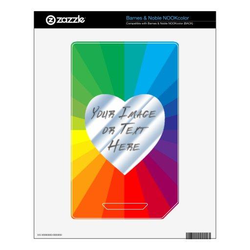 Marco adaptable del corazón: Colección del espectr NOOK Color Calcomanías