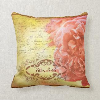 Marco adornado color de rosa rosado coralino de Ha Almohadas
