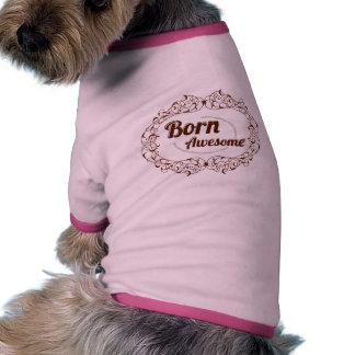 Marco adornado de los remolinos del diseño ropa perro