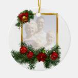 Marco adornado del navidad ornamentos para reyes magos