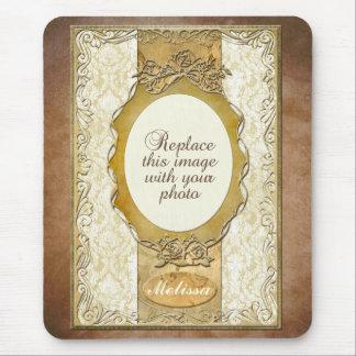 Marco adornado del oro con Mousepad de apertura