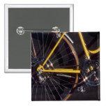 Marco amarillo de ciclo de la bici del ciclo de la pin
