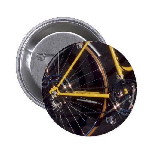 Marco amarillo de ciclo de la bici del ciclo de la pins