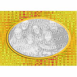 marco amarillo de la foto fotoescultura vertical