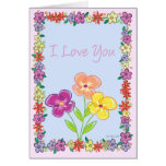 Marco-Amor de la flor Tarjetas