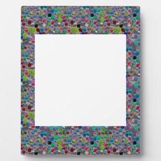 MARCO ANCHO de la joya:  DIY añaden personalizar d Placas Con Foto