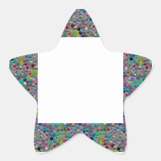 MARCO ANCHO de la joya:  DIY añaden personalizar Colcomanias Forma De Estrellaes Personalizadas