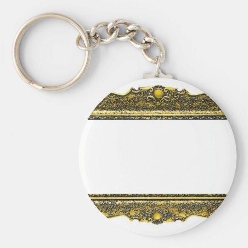 Marco antiguo del oro llaveros personalizados