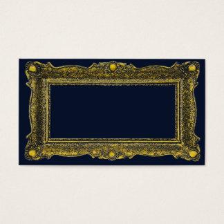 Marco antiguo del oro tarjetas de visita