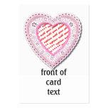Marco atado rosa de la foto del corazón tarjetas de visita grandes