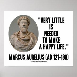 Marco Aurelius muy poco necesario para hacer vida  Poster