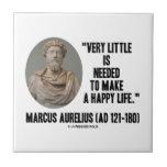 Marco Aurelius poco es necesario hace vida feliz Azulejo