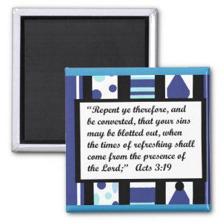 Marco azul de la dicha, imán del 3:19 de los actos