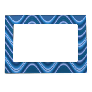 marco azul de la foto del diseño del modelo de ond marcos magneticos