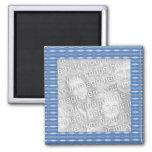 marco azul de la foto del modelo imanes