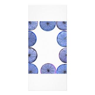Marco azul de la rebanada del limón que brilla int tarjeta publicitaria personalizada