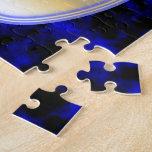 Marco azul del humo puzzle con fotos