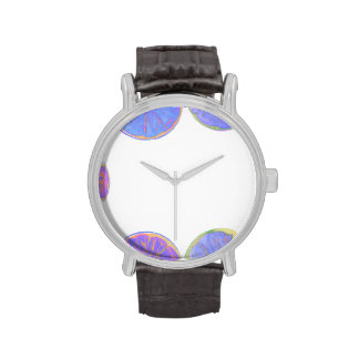 marco azul del limón reloj