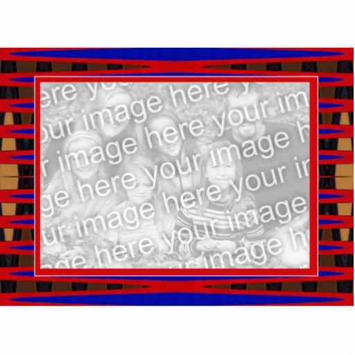 marco azul rojo fotoescultura vertical