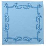 Marco azul servilleta