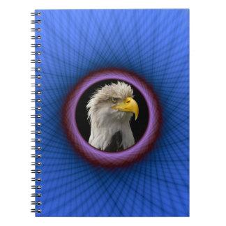 Marco azul y púrpura del cuaderno de ventana
