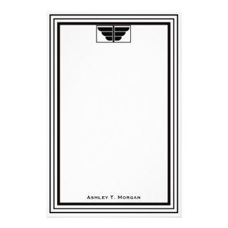 Marco blanco #2 del negro del art déco del vintage papeleria