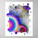 Marco blanco del resplandor solar, firma del arte poster