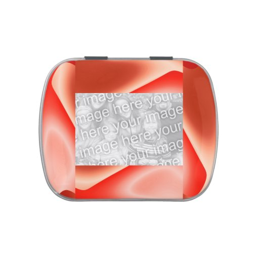 marco blanco rojo de la foto del extracto de la ll frascos de caramelos