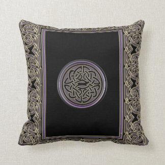 Marco céltico y almohada de tiro céltica metálica cojín decorativo