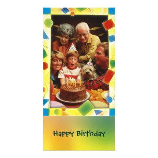 Marco colorido de la foto - tarjeta de la foto tarjeta fotográfica personalizada