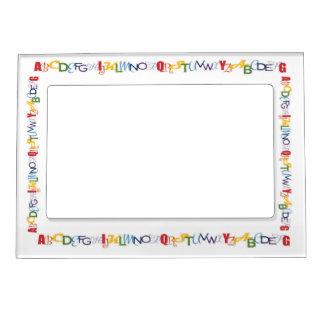 Marco colorido del alfabeto marcos magnéticos para fotos
