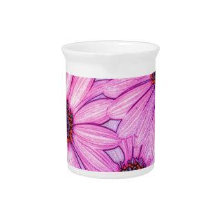 marco completo de los flores jarra para bebida