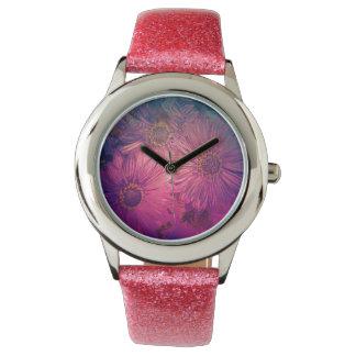 marco completo de los flores, relojes de pulsera