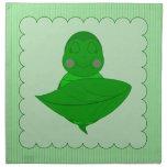 Marco con volantes de la tortuga verde el dormir c servilleta de papel
