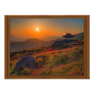 Marco coreano de madera del templo de la puesta cojinete