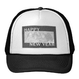 Marco cortado de la foto de la Feliz Año Nuevo - p Gorra