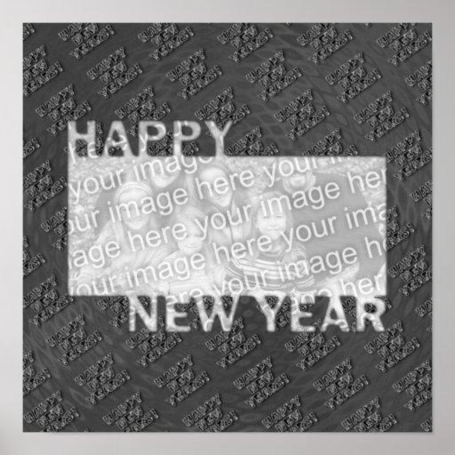 Marco cortado de la foto de la Feliz Año Nuevo - p Posters