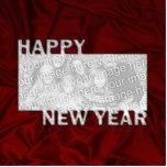 Marco cortado de la foto del Año Nuevo Escultura Fotográfica