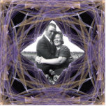 Marco cuadrado del arte del fractal de la cinta de esculturas fotográficas