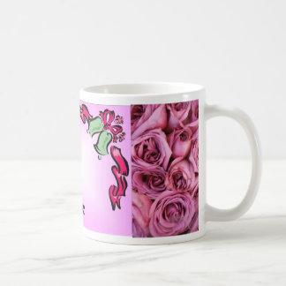 Marco de Belces de boda y taza rosada del favor de