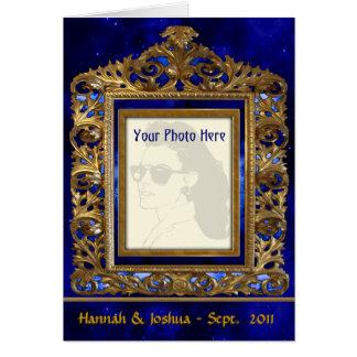Marco de cobre amarillo adornado tarjeta personal
