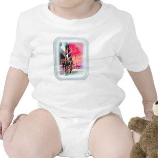 Marco de cristal rectangular traje de bebé