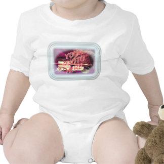 Marco de cristal rectangular trajes de bebé