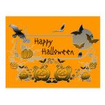 Marco de Halloween Tarjeta Postal