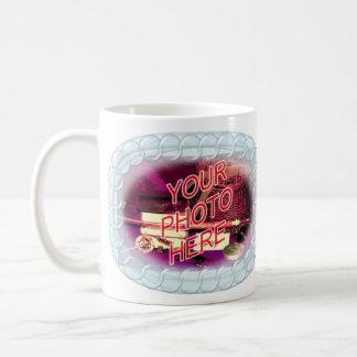 Marco de la cuenta de cristal taza de café