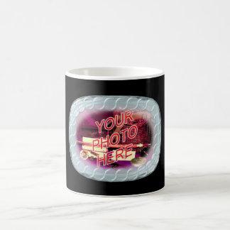 Marco de la cuenta de cristal tazas de café