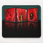marco de la flor 3D Alfombrillas De Ratones
