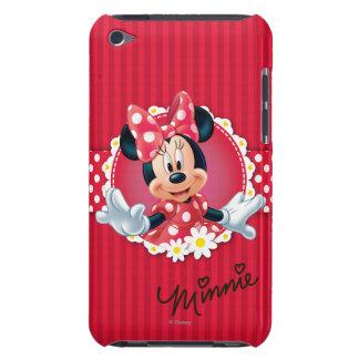 Marco de la flor de Minnie Barely There iPod Fundas