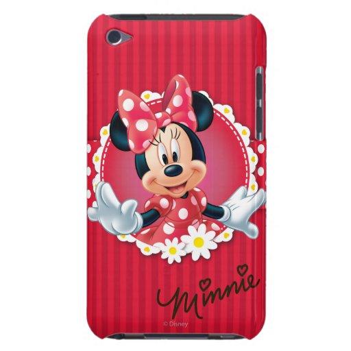 Marco de la flor de Minnie iPod Case-Mate Coberturas