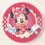 Marco de la flor de Minnie Posavasos Diseño